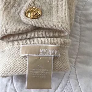 MICHAEL Michael Kors Accessories - Michael Kors Fingerless Gloves w  MK Gold Buttons